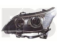 Левая фара БМВ 5 E60 06-10 год, под лампу H7,H7,PY21W, H6W,LED (БЕЗ AFS) / BMW 5 E60 (2002-2010)