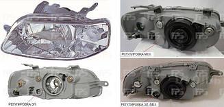 Левая фара Шевролет Авео T200 до 10.2005 года h4+w5w механическая/электрическая регулировка / CHEVROLET AVEO T200 (2004-2006)
