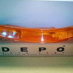 Левый указатель поворота Шевролет Авео T200 в бампере желтый до 10.2005 года / CHEVROLET AVEO T200 (2004-2006)