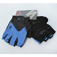 Перчатки SPECIALIZED AS180056-10 с короткими пальцами, размер:M,XL,L,в кул,17-13-2см, синий