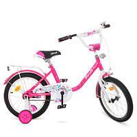 """Велосипед детский двухколесный Profi Flower 16"""" Y1682 малиновый"""