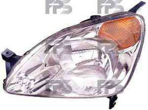 Левая фара Хонда ЦРВ 2001-04 год h4 желт. поворот электро регулировка / HONDA CRV (2002-2006)