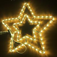 Уличная светодиодная фигура Звезда 40см, теплый белый