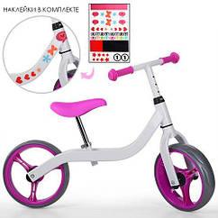"""Велобиг Profi Kids 10,5"""" M 3843 бело розовый"""