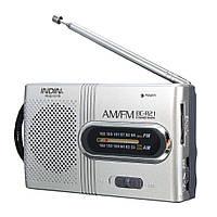 Мини карманный радиоприемник BC-R21-I AM/FM, разъем для наушников (3,5 мм), питание 2хАА батареи, фото 1