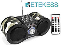 V113-R - цифровой FM радиоприемник + MP3 плеер (USB/TF CARD), динамик 2х1.6W Super Bass, AUX in, пульт ДУ, фото 1