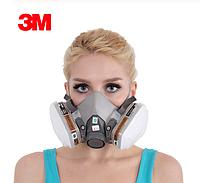 Респиратор противогаз 3M 6200 N95 маска с фильтрами, фото 1
