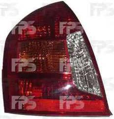 Левый задний фонарь кузов седан - EUR, цвет указателя поворота: стекло - оранжевое, вставка - желтая, без патронов Хюндаи Акцент 06-10 / HYUNDAI