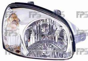 Левая фара Хюндаи Санта Фе I механическая/электрическая регулировка серый корпус / HYUNDAI SANTA FE I (2001-2006)
