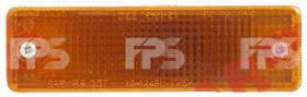 Левый (правый) указатель поворота Мазда 626 85-87 в бампере желтый / MAZDA 626 (1983-1987)