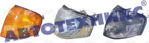 Левый указатель поворота Мерседес 202 93-01 белый с патроном без лампы / MERCEDES C-Class W202 (1993-2000)