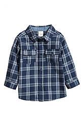 Рубашка                         H&M                         80(9-12m)                         Синяя                         (0530635006)