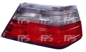 Правый задний фонарь кузов седан, красно-дымчатый, белая вставка (кпл. без патрона), без платы Мерседес 124 -96 / MERCEDES E-Class W124 (1984-1996)