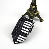 Галстук Bow Tie House Basic узкий черное пианино 00705