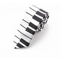 Галстук Bow Tie House узкий белое пианино c широкими клавишами 04200