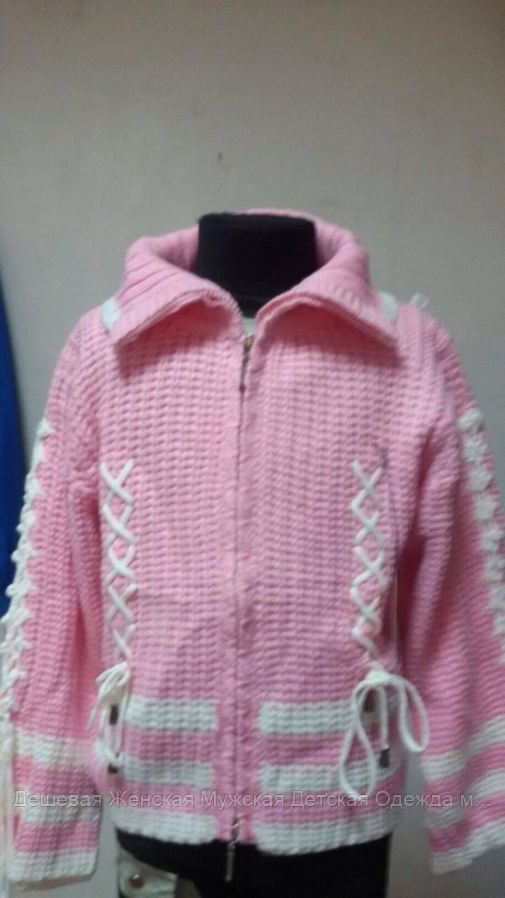Детский свитер на девочку розовый
