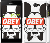 """Чехол на Sony Xperia M2 D2305 Obey. Mickey mouse """"909c-60"""""""