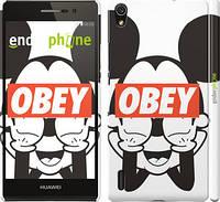 "Чехол на Huawei Ascend P7 Obey. Mickey mouse ""909c-49"""