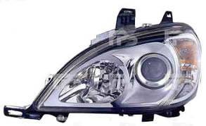 Левая фара Мерседес 163 электро регулировка с 2002 года h7+h7 корректор встроенный / MERCEDES ML-Class W163 (1997-2005)