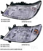 Правая фара Мерседес Спринтер электро регулировка h3+h7+h7 с 2002 года без корректора / MERCEDES SPRINTER (1995-2006)