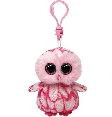 Мягкая игрушка розовая сова Pinky