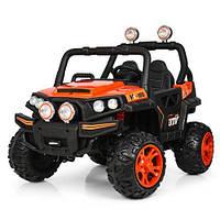 Електромобіль дитячий джип Bambi M 3825EBLR помаранчевий CH1133