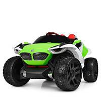 Електромобіль дитячий джип Bambi M 4064EBLR 4 мотори зелений CH1140