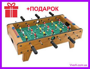 Футбол настольный на штангах, деревянный. LimoToy  69х37х23 см