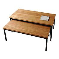 Комплект 2 Журнальных столика в стиле LOFT (NS-970000611), вис-500мм, шир-480мм, довж-1100мм,