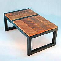 Кофейный Журнальный столик в стиле LOFT (NS-963247395), вис-420мм, шир-500мм, довж-900мм,, фото 1