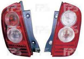 Левый задний фонарь без платы Ниссан Микра K12 03-10, дизайн модели до 2005 года / NISSAN MICRA K12 (2003-2010)