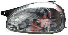 Левая фара Опель Корса B электро регулировка рифленое стекло / OPEL CORSA B (1993-2000)