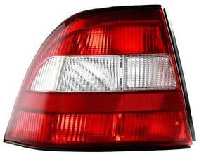 Левый задний фонарь Опель Вектра B -99, кузов HB/SDN, красно-белый, без платы / OPEL VECTRA B (1995-2002)