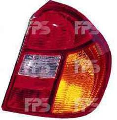 Правый задний фонарь Рено Симбол I, красно-желтый / RENAULT CLIO/SYMBOL (1998-2008)