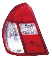 Правый задний фонарь Рено Симбол I, красно-белый / RENAULT CLIO/SYMBOL (1998-2008)