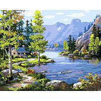Картина по номерам Домик у ручья 40 х 50 см (с коробкой), фото 1