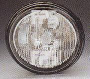 Левая фара противотуманная Рено Мастер 98-10 под лампу h1 (без рамки/косая) без лампы / RENAULT MASTER (1998-2010)