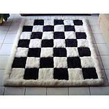Купити чорно білий килим шахи з лами, фото 2