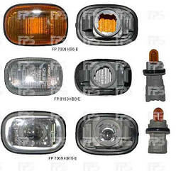 Левый (правый) указатель поворота Тойота Рав4 01-06 на крыле желтый без лампы / TOYOTA RAV4 CA20 (2001-2006)
