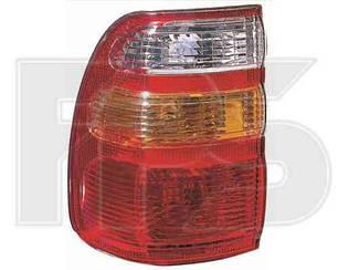 Левый задний фонарь Тойота Ланд Крузер J100, до 2004 года, внешний, бело-желтый / TOYOTA LAND CRUISER J100 (1998-2008)