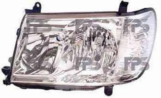 Левая фара Тойота Ланд Крузер J100 год 2005-08 механическая/электрическая регулировка hb4+hb3 / TOYOTA LAND CRUISER J100 (1998-2008)