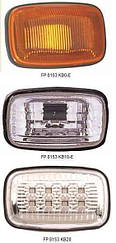 Левый (правый) указатель поворота Тойота Ланд Крузер J100 на крыле (левый с правым) белый прозрачн. led / TOYOTA LAND CRUISER J100 (1998-2008)