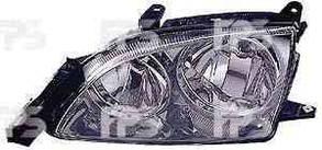 Левая фара Тойота Авенсис 00-03 электро регулировка хромированный отражатель / TOYOTA AVENSIS (1997-2003)