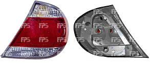 Левый задний фонарь Тойота Камри XV30, с 2004 года, отв. для 4-х ламп, (тип USA), без патронов / TOYOTA CAMRY XV30 (2002-2006)
