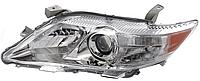 Правая фара Тойота Камри XV40 год 2006-10 электро регулировка eur (желтая вставка) h7+hb3 хром. рассеиватель / TOYOTA CAMRY XV40 (2006-2011)