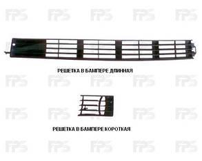 Левая решетка Ауди 100 -94 в бампере под п/тум. длинная / AUDI 100 C4 (1991-1995)