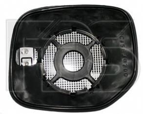 Правый вкладыш зеркала Пежо Партнер -07 с обогревом выпуклый / PEUGEOT PARTNER (1997-2002)
