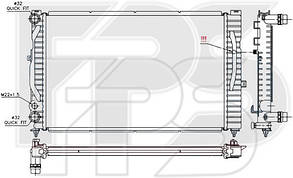 Радиатор Ауди A6 94-98 (C4) / AUDI A6 C4 (1994-1997)