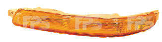 Левый указатель поворота Шевролет Авео T200 в бампере желтый до 10.2005 года с патроном / CHEVROLET AVEO T200 (2004-2006)