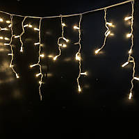 Гирлянда уличная Бахрома Alphatrade 3*0,6 м, (проф) с мерцанием Flash, белый провод, цвет белый теплый